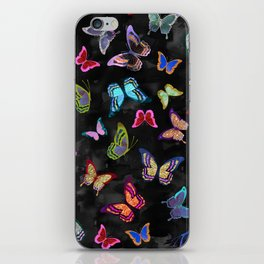Butterfly Forest {black} iPhone Skin