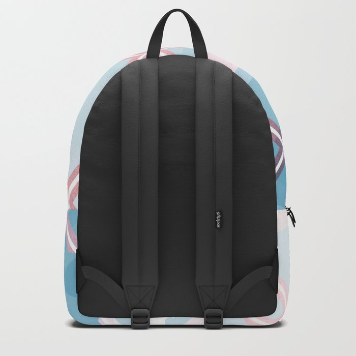 Abstract Triangulated XOX Design Backpack