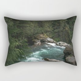 The Lost River - Pacific Northwest Rectangular Pillow