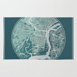 Philadelphia Map Planet Rug