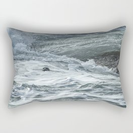 Staying Afloat in a World of Turmoil Rectangular Pillow