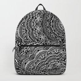 Zen Black and white mandala Sophisticated ornament Backpack