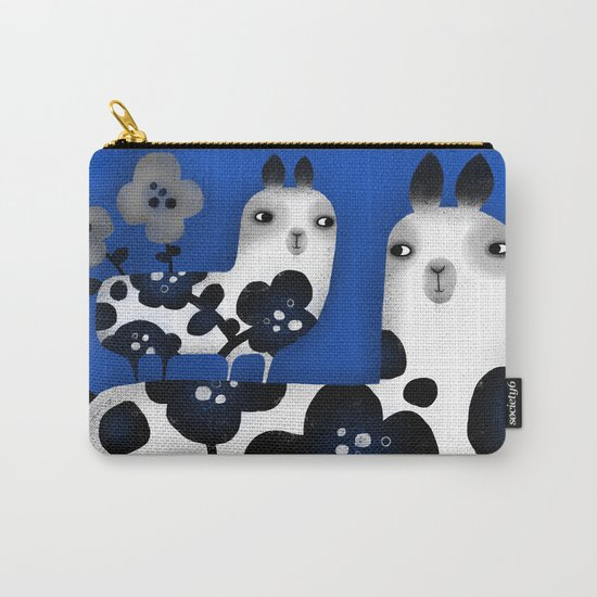 FLOWERED FRIENDS Carry-All Pouch