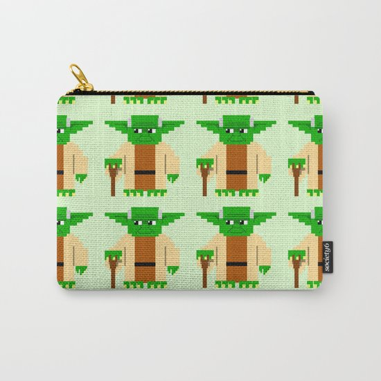 Pixel Yoda Carry-All Pouch