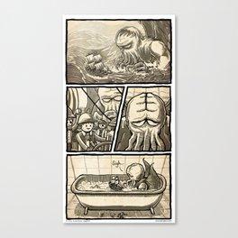 Cthulhu Scare Canvas Print