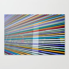 Colored Lines On The Wall Canvas Print