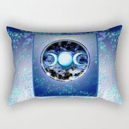Moon Symbol and Stars Rectangular Pillow