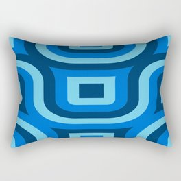 Blue Truchet Pattern Rectangular Pillow