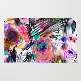 Graffiti flowers Rug