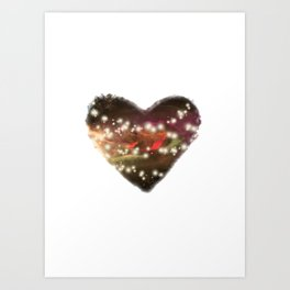 Space Heart Art Print