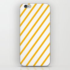 Yellow summer stripes iPhone & iPod Skin