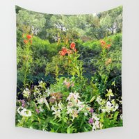 shakespeare Wall Tapestries featuring Shakespeare Garden by Bill Jackson