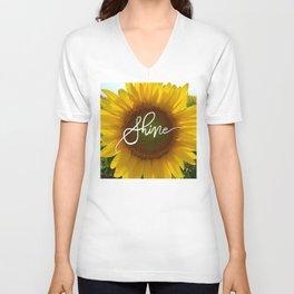 Shine Sunflower Unisex V-Neck