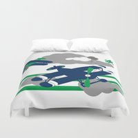 airplanes Duvet Covers featuring Airplanes 2  by ann t jones