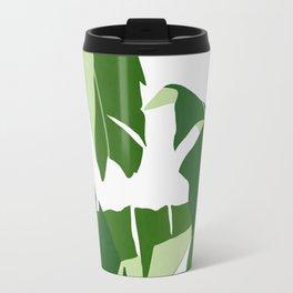 Tropical leaf illustration V Travel Mug
