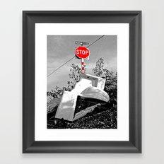 Roadside toilet Framed Art Print