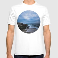 Moody Blues II MEDIUM White Mens Fitted Tee
