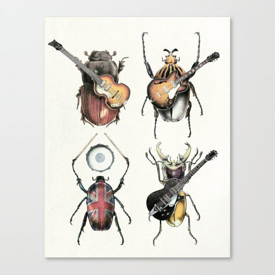 Meet the Beetles (white option) Canvas Print