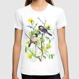 chickadees and Spring Blossom T-shirt