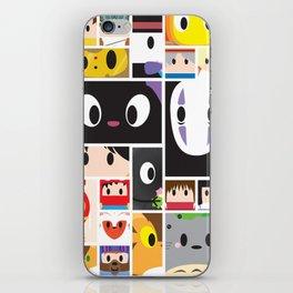 World of Ghibli Blocks iPhone Skin