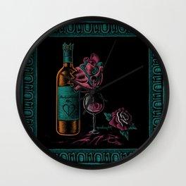 CODEINE - Broken Hearted Wine Wall Clock