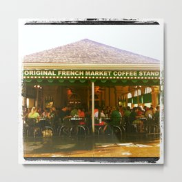 New Orleans Cafe Du Monde Metal Print