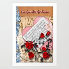 Our Love will last forever Art Print