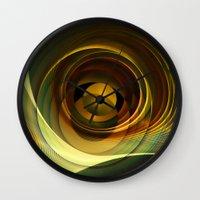 infinity Wall Clocks featuring Infinity by Klara Acel