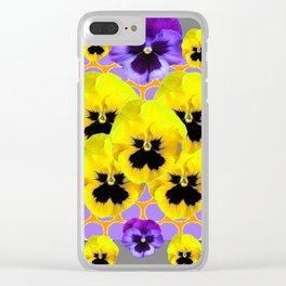 YELLOW & PURPLE SPRING PANSIES ART Clear iPhone Case