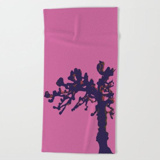 pop winter tree Beach Towel