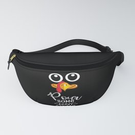 Pour Some Gravy Turkey Thanksgiving Family Party Fanny Pack