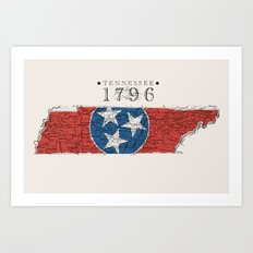 Tennessee: 1796 Art Print