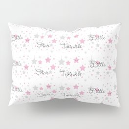 Twinkle Little Star Pink Baby Girl Nursery Pillow Sham