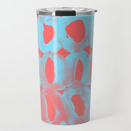 Paint Circles Pattern - Red and Blue Travel Mug