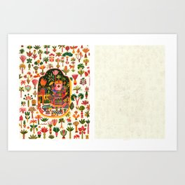 Delights, from sketch to color Art Print