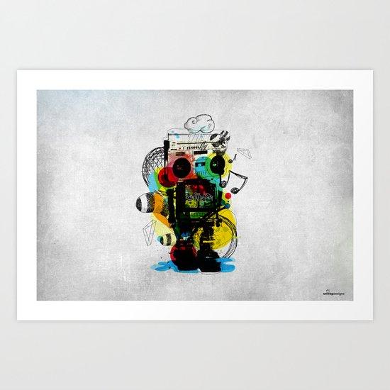 Groovetron Art Print