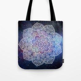 Lace Mandala - White on Galaxy Tote Bag