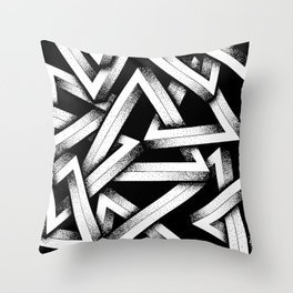 Impossible Penrose Triangles Throw Pillow