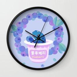 Blueberry poison yogurt 2 Wall Clock