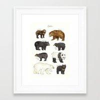 bears Framed Art Prints featuring Bears by Amy Hamilton