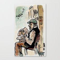 Il vecchio de la Garbatella - the old man from Garbatella Canvas Print