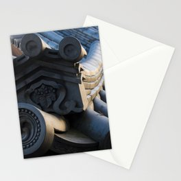 Japanese traditional temple roof Stationery Cards
