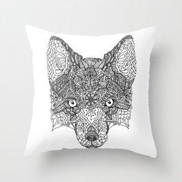 Decorative Fox Throw Pillow