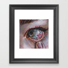 Beauty in The Eye Framed Art Print