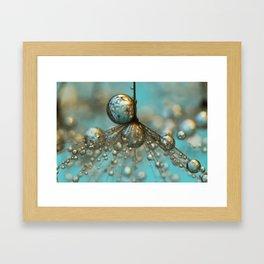 Dandy Shower in Silver & Blue Framed Art Print