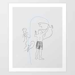 Le portrait de Pablo Art Print