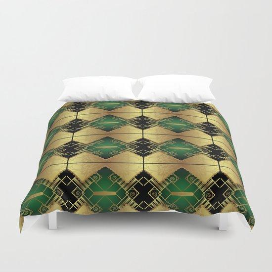 Vintage Art Decó Pattern Duvet Cover
