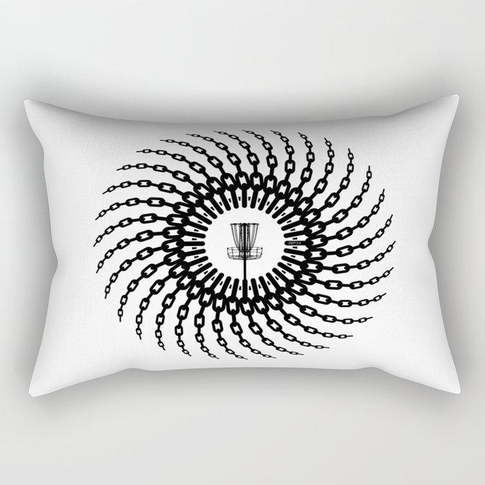 Disc Golf Basket Chains Rectangular Pillow