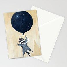 Raccoon Balloon Stationery Cards