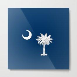 South Carolina State Flag Patriotic Design Metal Print